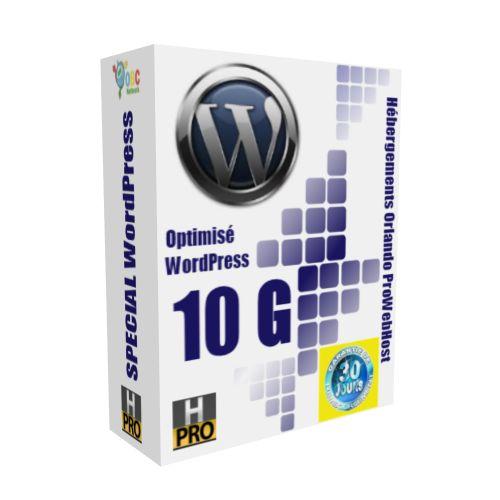 Hébergement Web WordPress 10 Giga + Auto-Répondeur