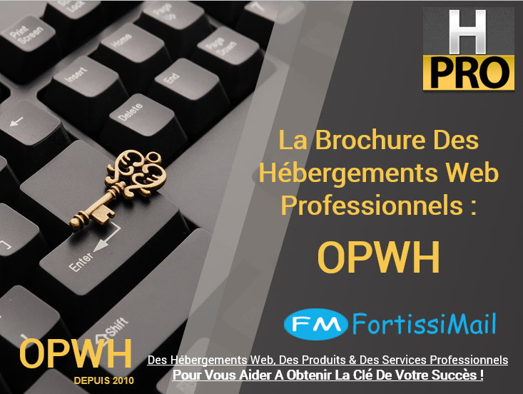 Brochure Des Hébergements Web OPWH